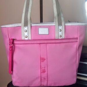 Coach Pink Hamptons Nylon Tote Bag